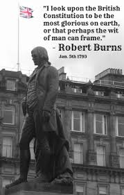 Burns on the British