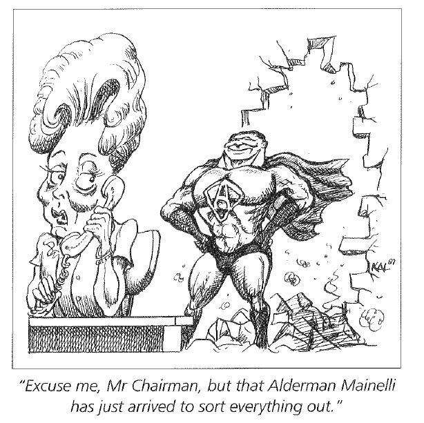 Alderman Mainelli cartoon 2015