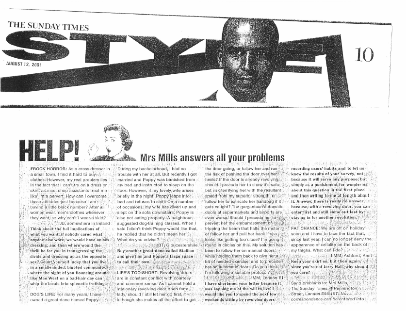 Mrs Mills Sunday Times 2001.08.12